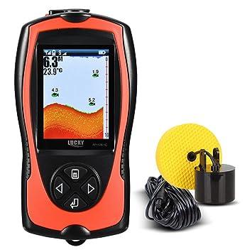 Lixada Lucky FF1108-1CT Buscador de Peces Portátil 100 m/300 Profundidad Peces Alarma Cable Detector de Pescado: Amazon.es: Deportes y aire libre