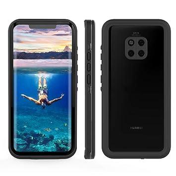 TENCOU IP68 - Carcasa para Huawei Mate 20 Pro, Resistente al Agua, Transparente, a Prueba de Golpes, con Protector de Pantalla Integrado para Huawei ...
