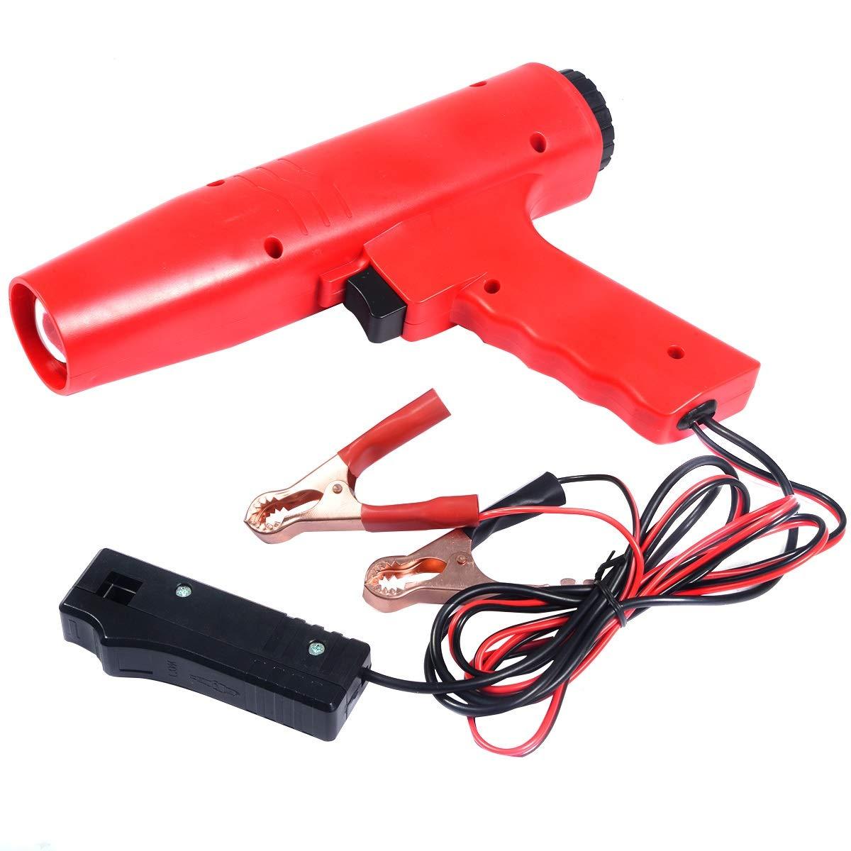 HYET® , pistola di accensione con luce, lampada stroboscopica, punto di accensione a 12 V COSTWAY