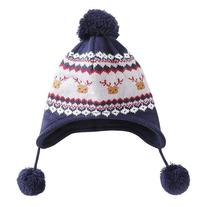 ... Berretto Cappello Invernale a Maglia Bimba Bambina Disegni Ragazza  Ragazzi Earflap Infantile PON PON Cappuccio Sciarpa Set  Amazon.it   Abbigliamento 5d49c6c5f565