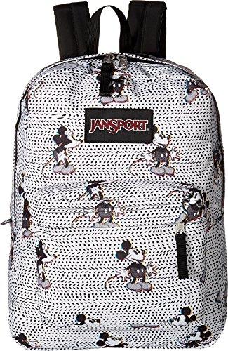 Jansport - Unisex-Adult Black Label Superbreak Backpack Disney Glitch Mickey