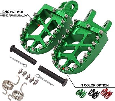 Black DTC/ 16-17 Motorcycle Foot Pegs Rest Pedal Footpegs For Honda CR80R CR80RB 96-02 CR85R CR85RB 03-07 XR250R XR400R 96-04 XR600R 89-00 XR650L 92-19 XR650R 00-07 CRF1000L