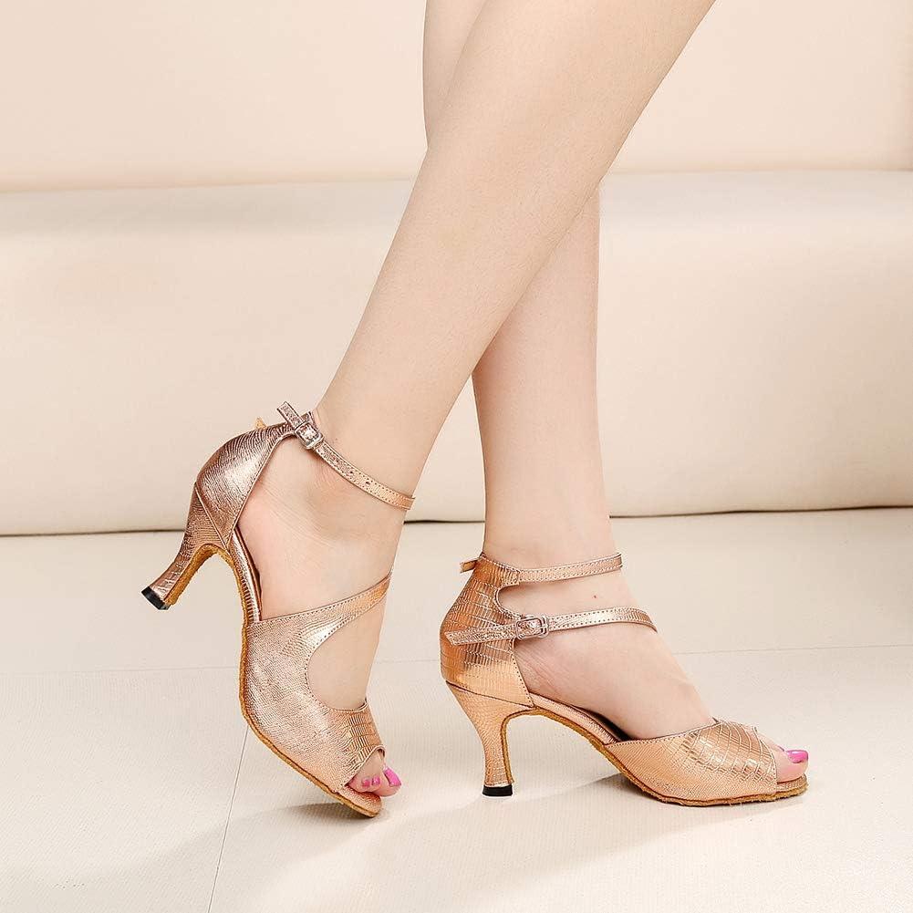 Hroyl Chaussures De Danse Latine Pour Femme Tango Cha-cha Pratique Salsa Fête Mariage Chaussures,qjw1029 5cmrose Or 2899 1