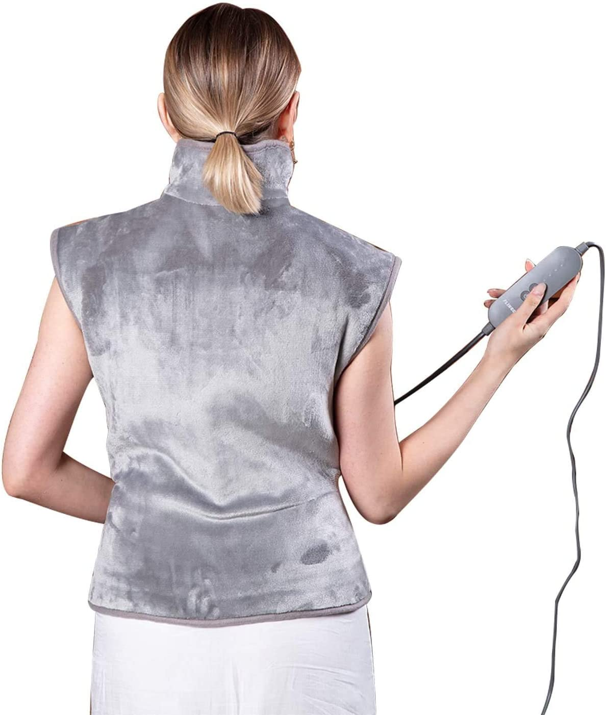 FLINCOUS Heating Pad for Back Pain Relief, 24x34 inch Large Heated Pad for Neck and Shoulders, Heating Wrap with Adjustable Temperature Settings Auto Shut Off