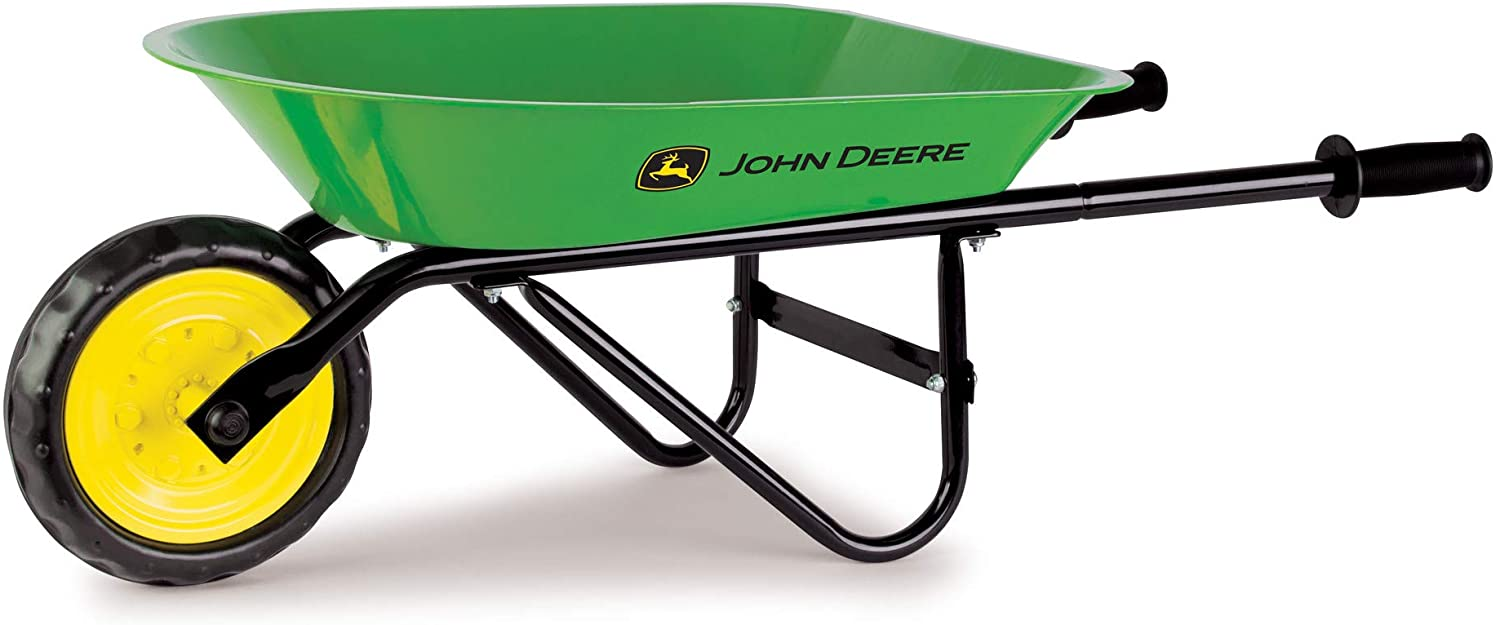John Deere Steel Wheelbarrow Sized Right for Kids