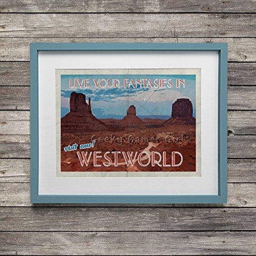 Westworld Poster | Westworld travel poster | Vintage travel poster | Videogame art | no frame or mat 11x17