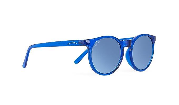 MISS HAMPTONS Alcide - Lunettes De Soleil mixte adulte, bleu (montura azul lente blue chrome), taille Taille unique