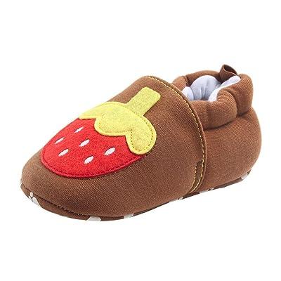 Ouneed® Bébé Mixte Fille/Garcon Poulet/Fraise/Carrot Coton Premier pas Chaussures Souple