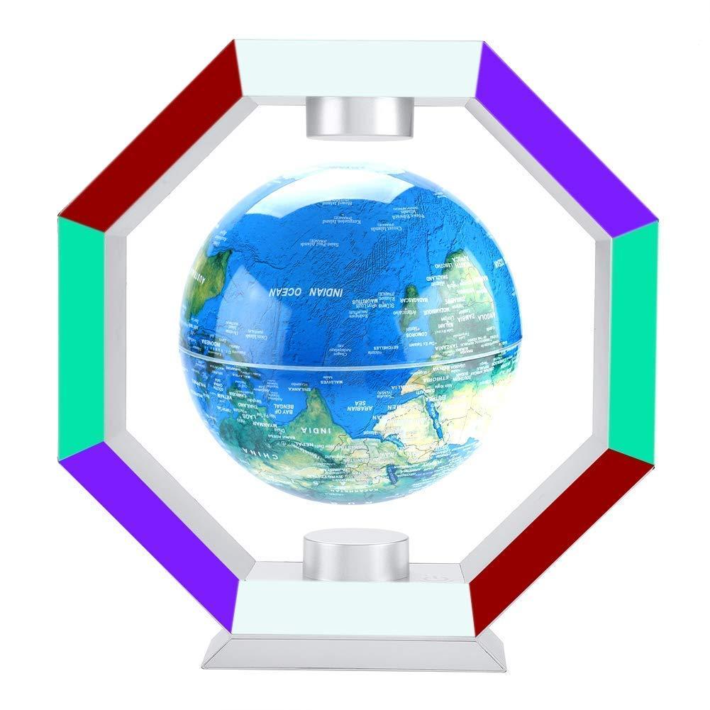 Levitazione magnetica globo, mappa del mondo e costellazione e luce a LED per bambini educazione regalo ufficio Decorazione scrivania(EU)