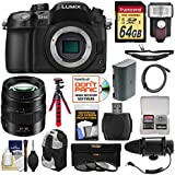 Panasonic Lumix DMC-GH4 4K Micro Four Thirds Digital Camera + 12-35mm f/2.8 Lens + 64GB Card + Backpack + Flash + Battery + Tripod + Microphone Kit