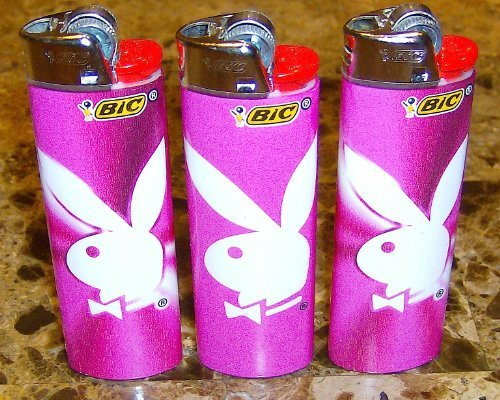 Lot of 3 Bic Playboy Designed Lighter Brand New Fast Shipping by BIC