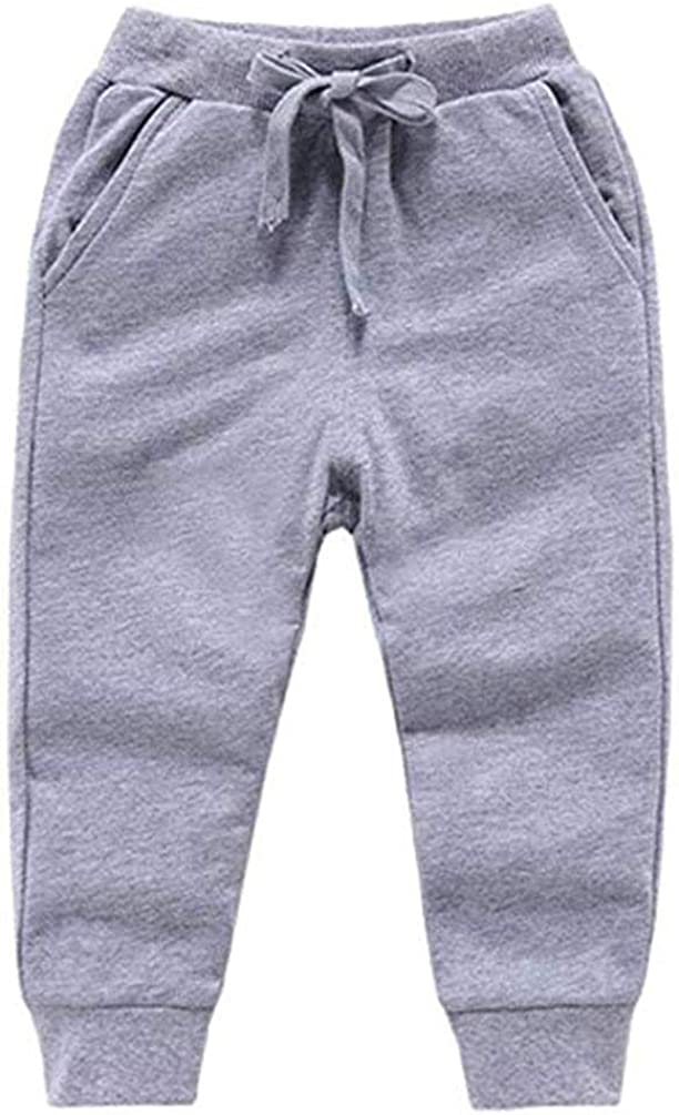 HAXICO Unisex Kids Solid Cotton Drawstring Waist Winter Pants Toddler Baby Bottoms Active Sweatpants