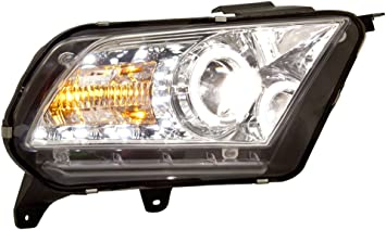 Halogen Headlamp Models ONLY IPCW CWS-523C2 Ford Mustang Chrome Replacement Projector Headlamp with Angel Eye