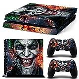 PS4 Vinyl Skin Estampas Compatible Con La Cónsola PlayStation 4 y Para 2 Controles (Joker)