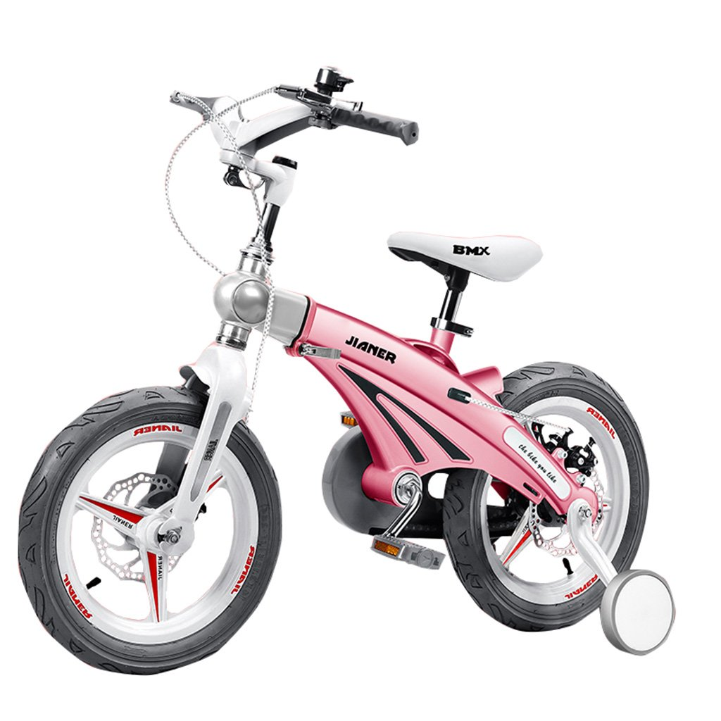 子供の自転車バイク2-8歳のベビーキャリッジ12/14/16インチポータブル/折りたたみ/衝撃吸収子供の自転車ピンク100キロ (サイズ さいず : 12inch) B07F2NT3ZB12inch