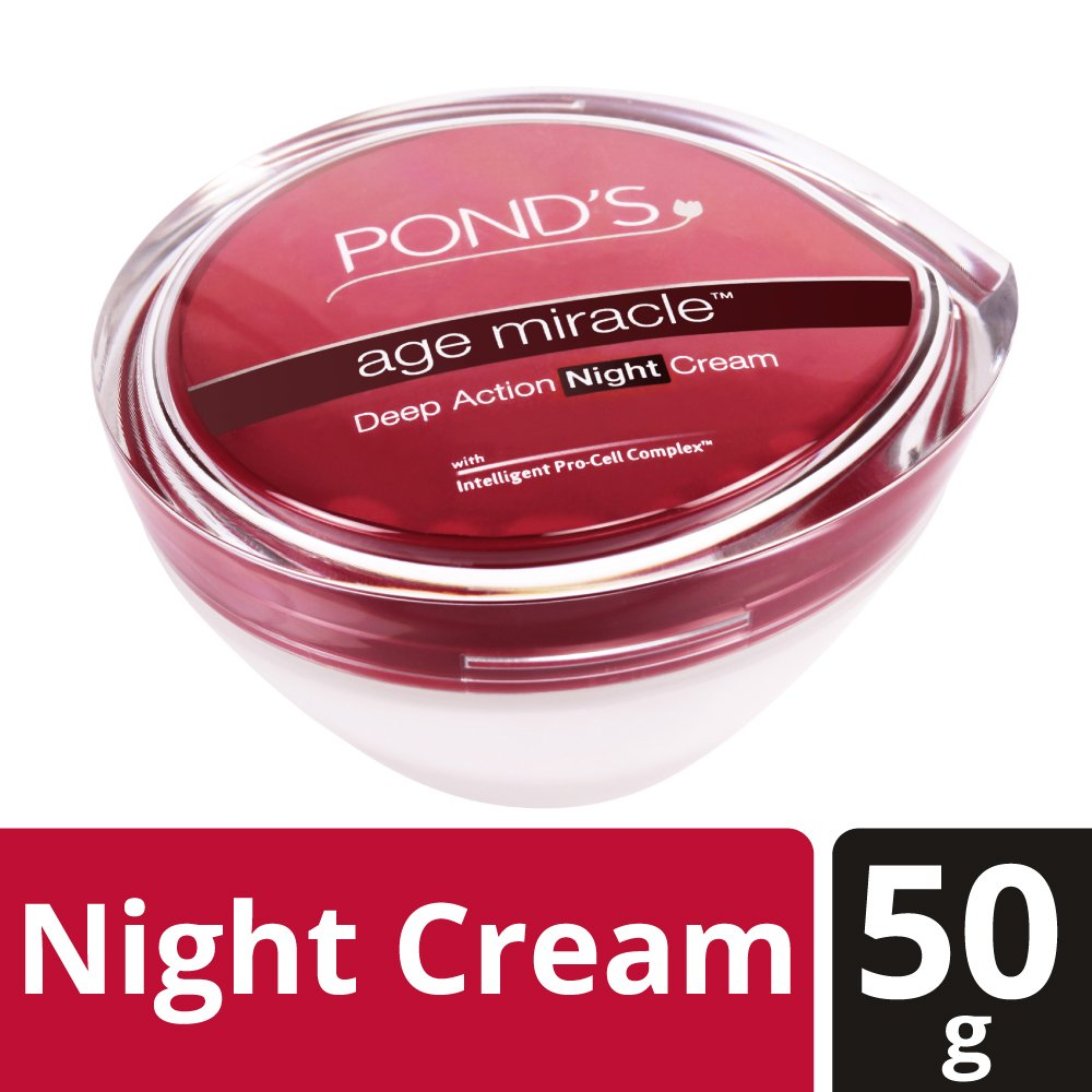 Ponds Age Miracle Wrinkle Corrector Night Cream Spf 18 Flawles Pa 50 Grams Beauty