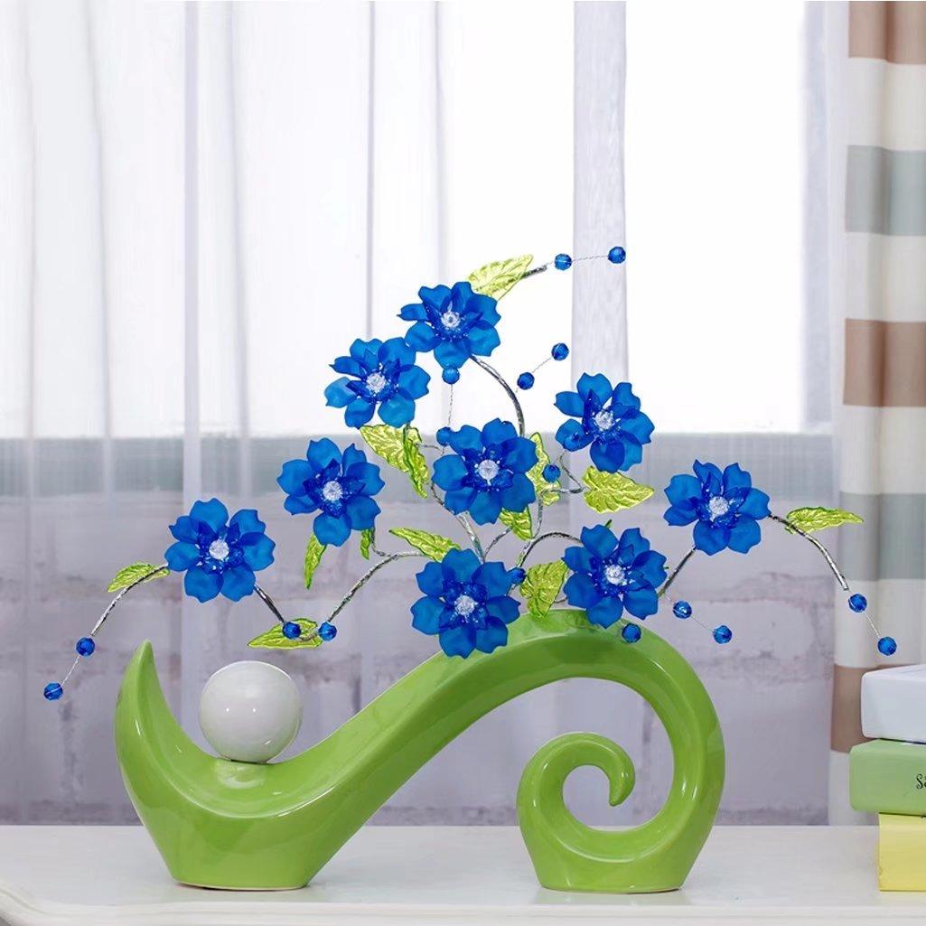 花 造花 飾り物 デザイン クリスタル 枯れない 手作り 雑貨 小物 飾り品 モダン インテリア オシャレ 置物 お洒落 プレゼント 敬老の日 結婚祝い お礼 A-KUYA B07CGGXGCC カラーC