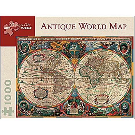 Amazon antique world map 1000 piece jigsaw puzzle toys games antique world map 1000 piece jigsaw puzzle gumiabroncs Gallery