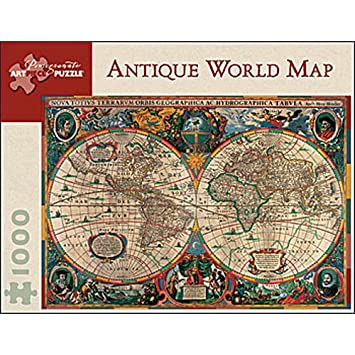 Amazoncom Pomegranate Antique World Map 1000 Piece Jigsaw Puzzle