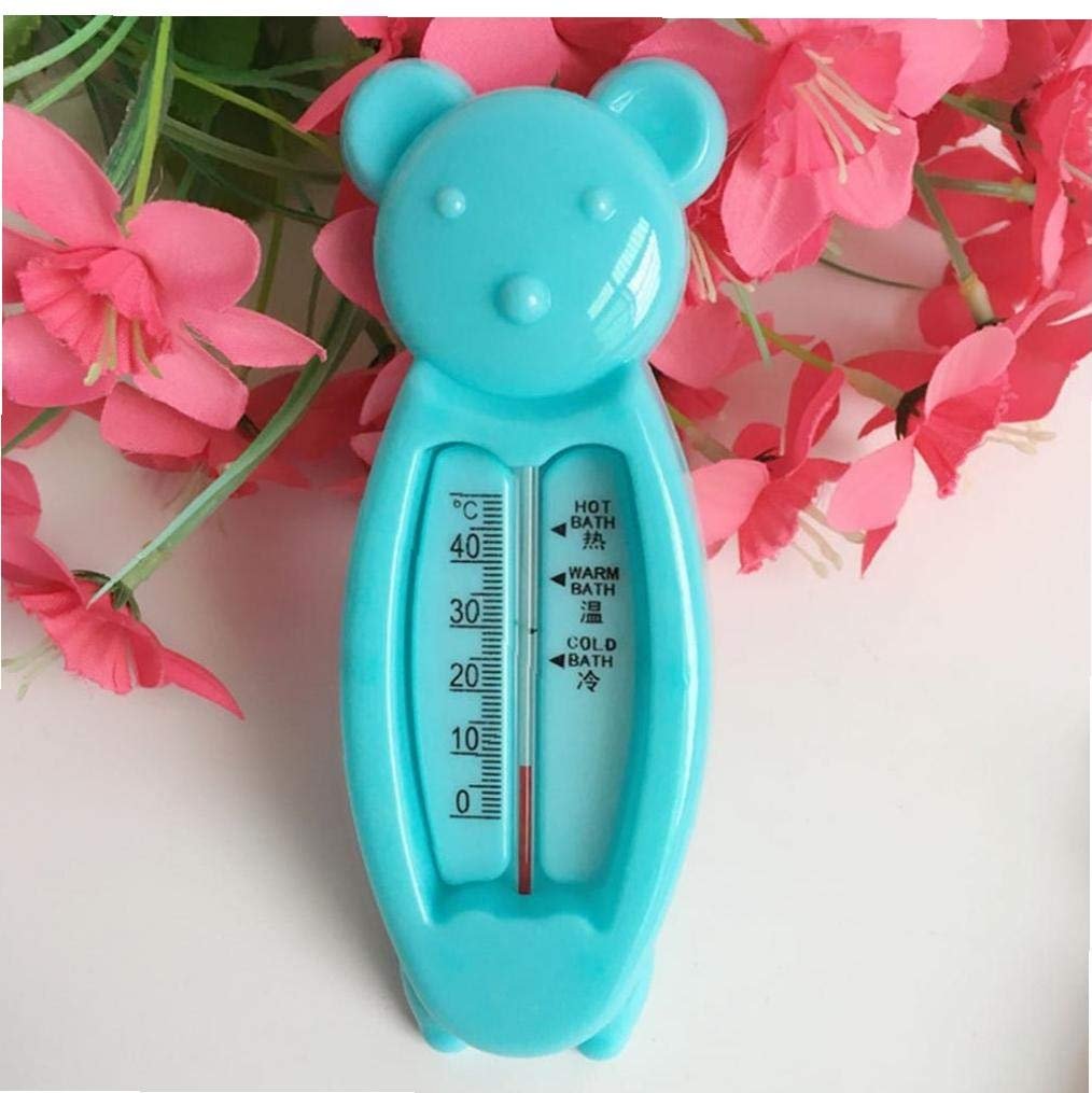 Temperatura oso de dibujos animados term/ómetro del ba/ño del beb/é term/ómetro de las aguas de ba/ño Medida juguete flotante utilizado en la ba/ñera y la piscina del ni/ño reci/én nacido accesorios