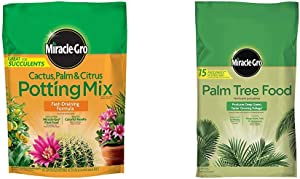 Miracle-Gro Cactus, Palm & Citrus Potting Mix and Palm Tree Food