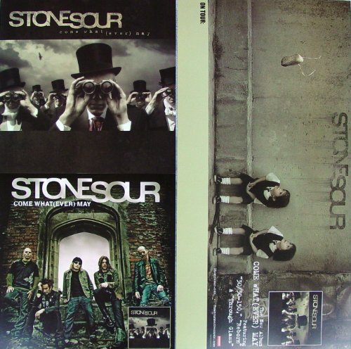 Stone Sour - Come What(ever) May - Two Sided Poster - New - Rare - Slipknot - Corey Taylor - Jim Root - Josh Rand - Sean Economaki - 30/30-150 - Sillyworld - Through Glass - Stonesour