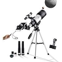 MAXLAPTER 150X Télescope Enfants Monoculaire Astronomique 300-70mm pour étudiant avec Trépied, Adaptateur Téléphone, Obturateur De Fil, Filtre Lune pour Observer Les étoiles et Observer Les Oiseaux