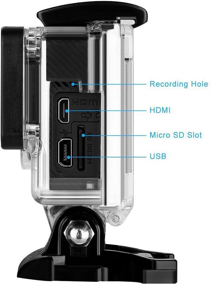 Nechkitter Side Open Skeleton Housing for GoPro Hero4 Hero3+ Hero 3 Cameras, Protective Housing Case with Hollow Backdoor Transparent