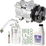 New AC Compressor & Clutch With Complete A/C Repair Kit For Ford Mustang V8 - BuyAutoParts 60-80219RK New