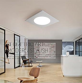 Natood Simple Square Schlafzimmer Lampe Wohnzimmer Studie Led Deckenbeleuchtung Ohne Lichtquelle White