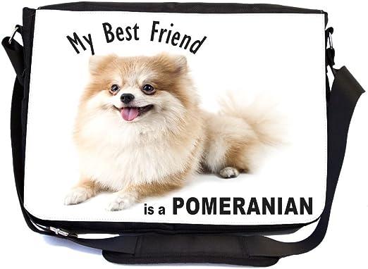 Amazon Com Rikki Knight My Best Friend Is A White Pomeranian Dog
