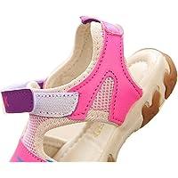Gaorui Girls' Closed Toe Sport Sandals Soft Sole Antiskid Beach Flat Shoes