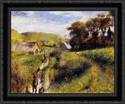 (Grape Harvesters 24x20 Black Ornate Wood Framed Canvas Art by Renoir, Pierre Auguste)