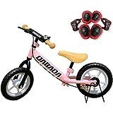 DABADA(ダバダ) ランバイク ペダルなし自転車 子供用 スタンド付き 軽減ブレーキ付き バランス 2歳~5歳 (pink)