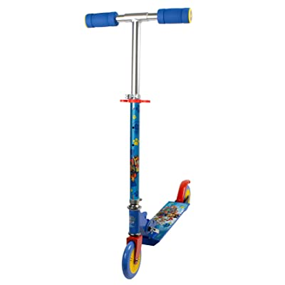 Paw Patrol DARP-OPAW112 Blue Kid's Foldable Two Wheel in-Line Scooter with Adjustable Handlebar : Toys & Games