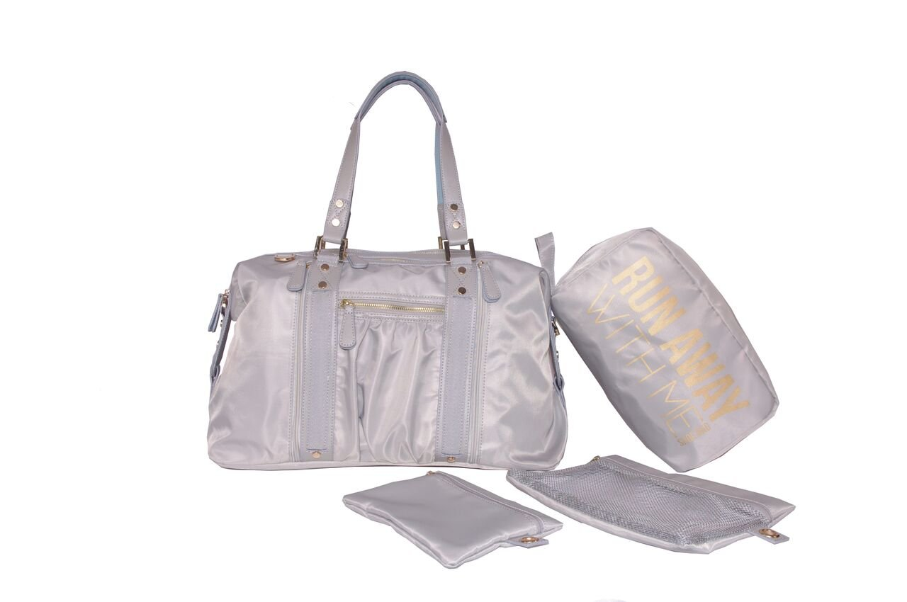 Hang Accessories Grey Athleisure Yoga Tote Bag