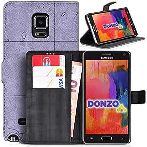 DONZO Wallet Travel Funda para Samsung Galaxy Note 4 N910 gris