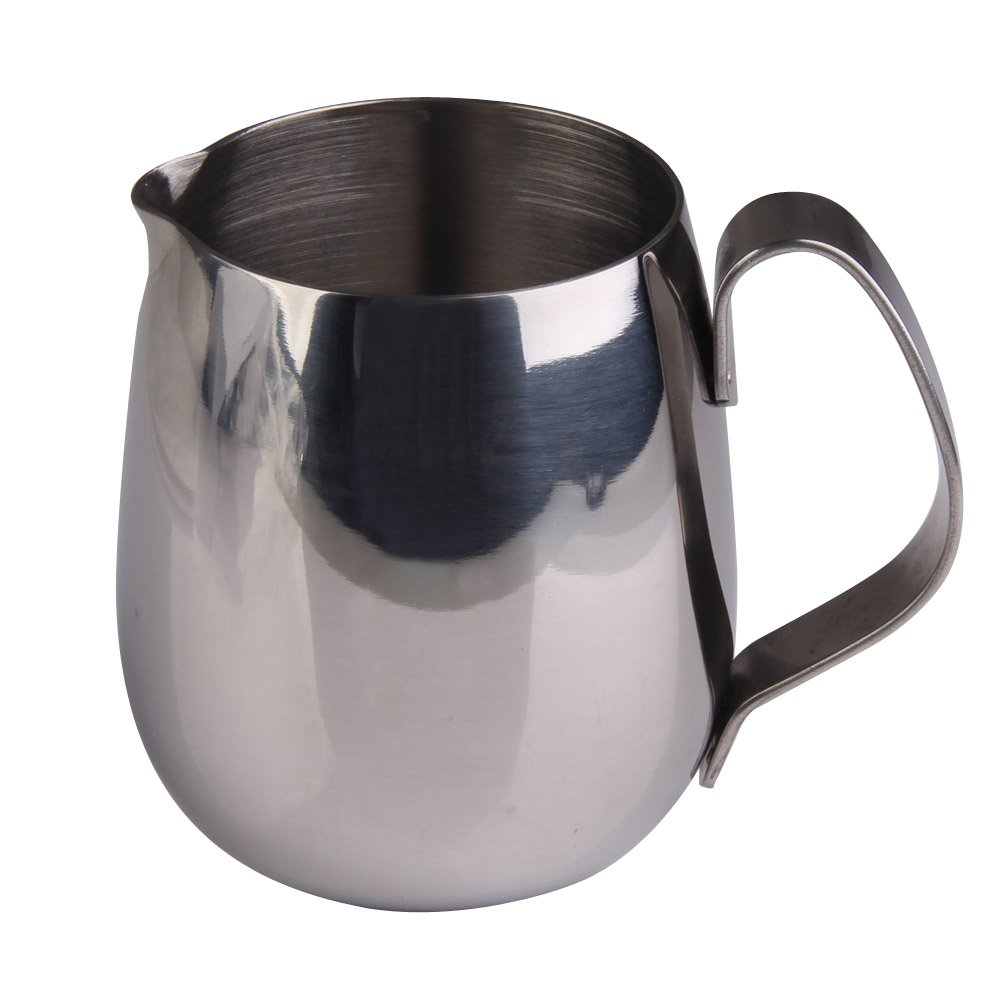 Demiawaking Stainless Steel Drum Shape Espresso Coffee Milk Frothing Jug 350ML