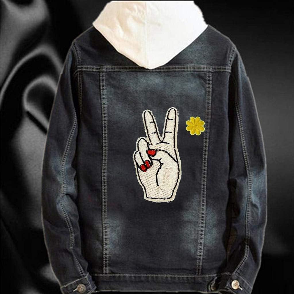 Feelairy 20 Pcs Patchs Thermocollants Fleurs Petits Graffiti Autocollants /Étoiles Auto-Adh/ésives Mini Patchs Thermocollants Patchs Applique pour Enfants DIY T-Shirt Jeans V/êtements Sacs