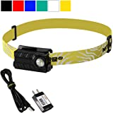 Nitecore NU20 360 Lumens Rechargeable Lightweight LED Headlamp with USB Cable and Lumen Tactical USB AC Power Adapter