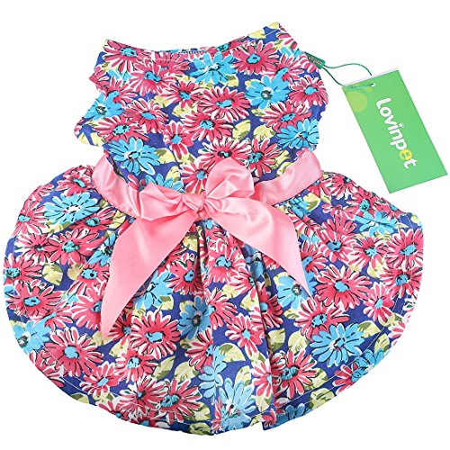 LovinPet Party Dresses For Dogs; Dog Dress & Pet Cats Dresses For Everyday wear, Holiday, Sundress, Party, Valentine'S Day, Festive etc. Fancy Cute Skirt Puppy Vest Dress - Holiday Party Dog Dress