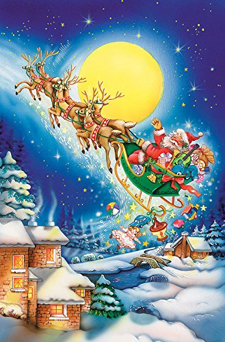 Moonlit Sleigh (Cobble Hill Santa on a Moonlit Night 60 Piece Christmas 60 Piece Children's Puzzles)