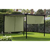 Deals on Belham Living 10x12-ft Pergola w/Retractable Canopy Shades