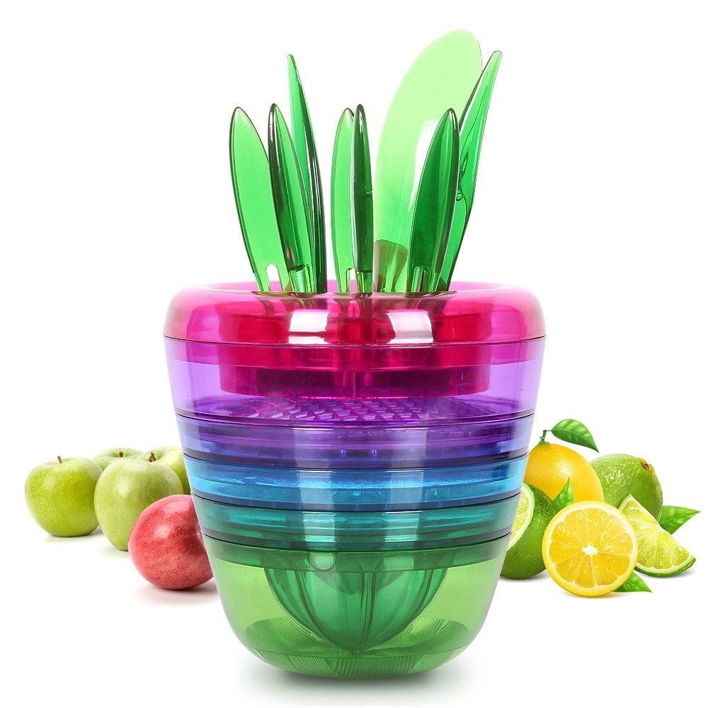 Nex Gadgets-Fruit Salad Maker Fruit Slicer-Avocado Slicer Best Unique Cool Home Kitchen Tools Citrus Peeler, Apple Slicer, Citrus Juicer, Fruit Grater