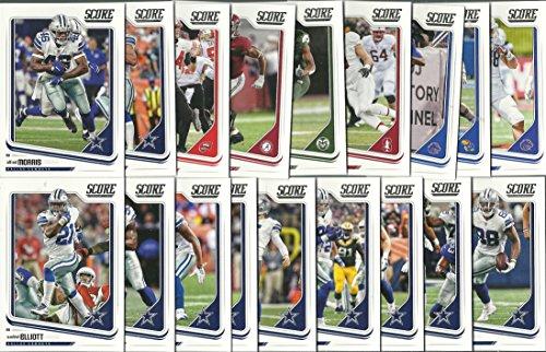 2018 Panini Score Football Dallas Cowboys Team Set 15 Cards W/Drafted Rookies Dak Prescott Elliott