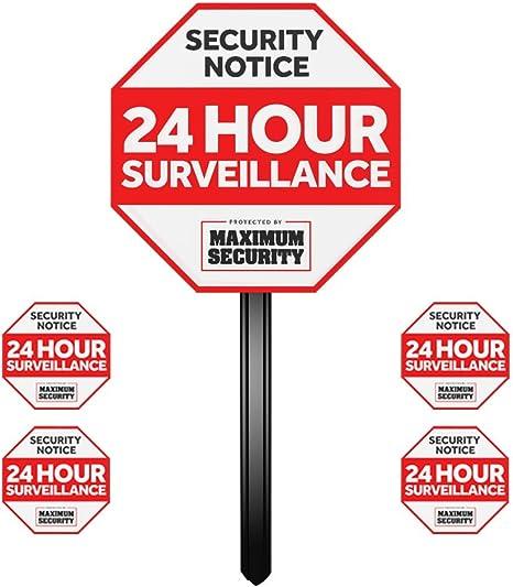 Amazon.com: Señal de alarma para el hogar estaca para W/y 4 ...