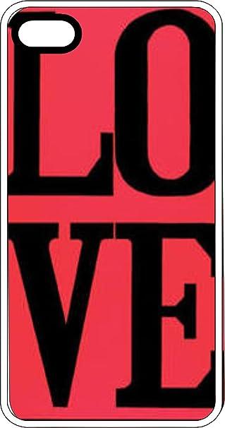 Love A Quadretti Su Sfondo Rosa Bianco Di Plastica Per Apple Iphone
