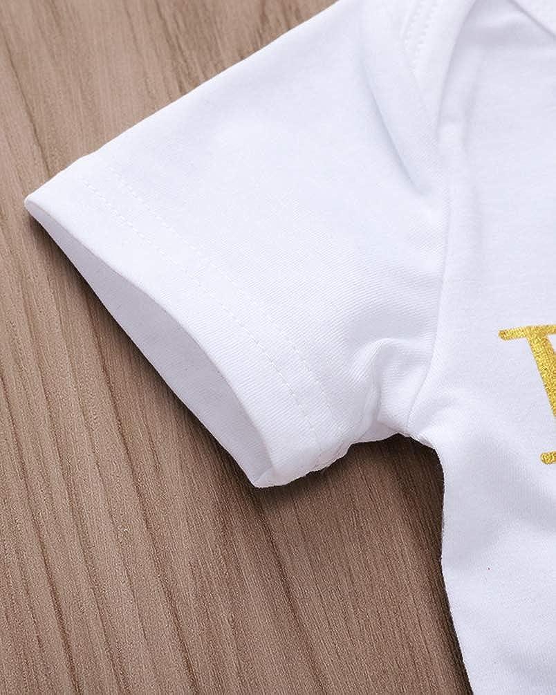COLOOM Baby Girl Boy Letter Romper Jumpsuit Aunt One-Piece Bodysuit Infant Clothing
