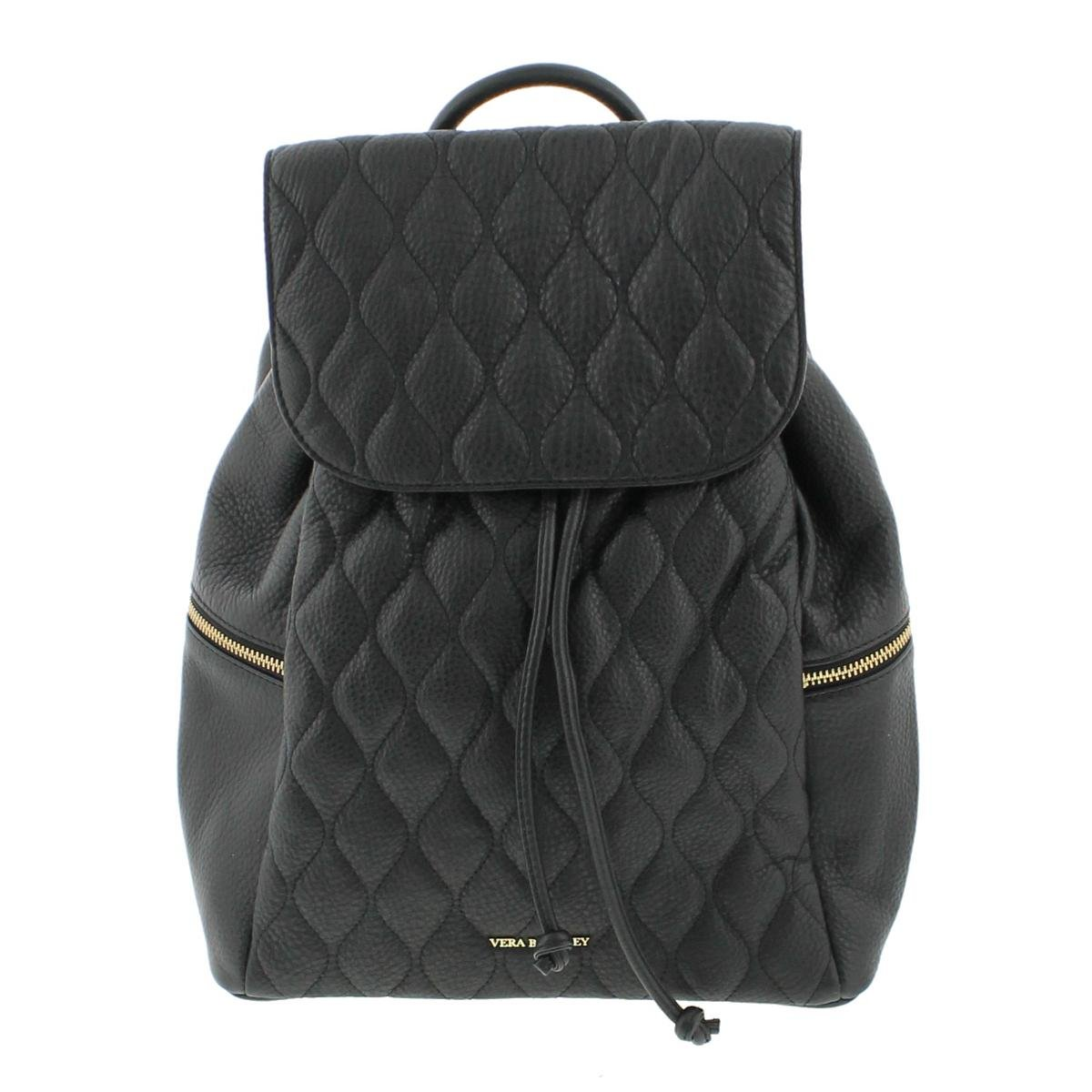Vera Bradley Quilted Amy Backpack Shoulder Handbag, Black, One Size