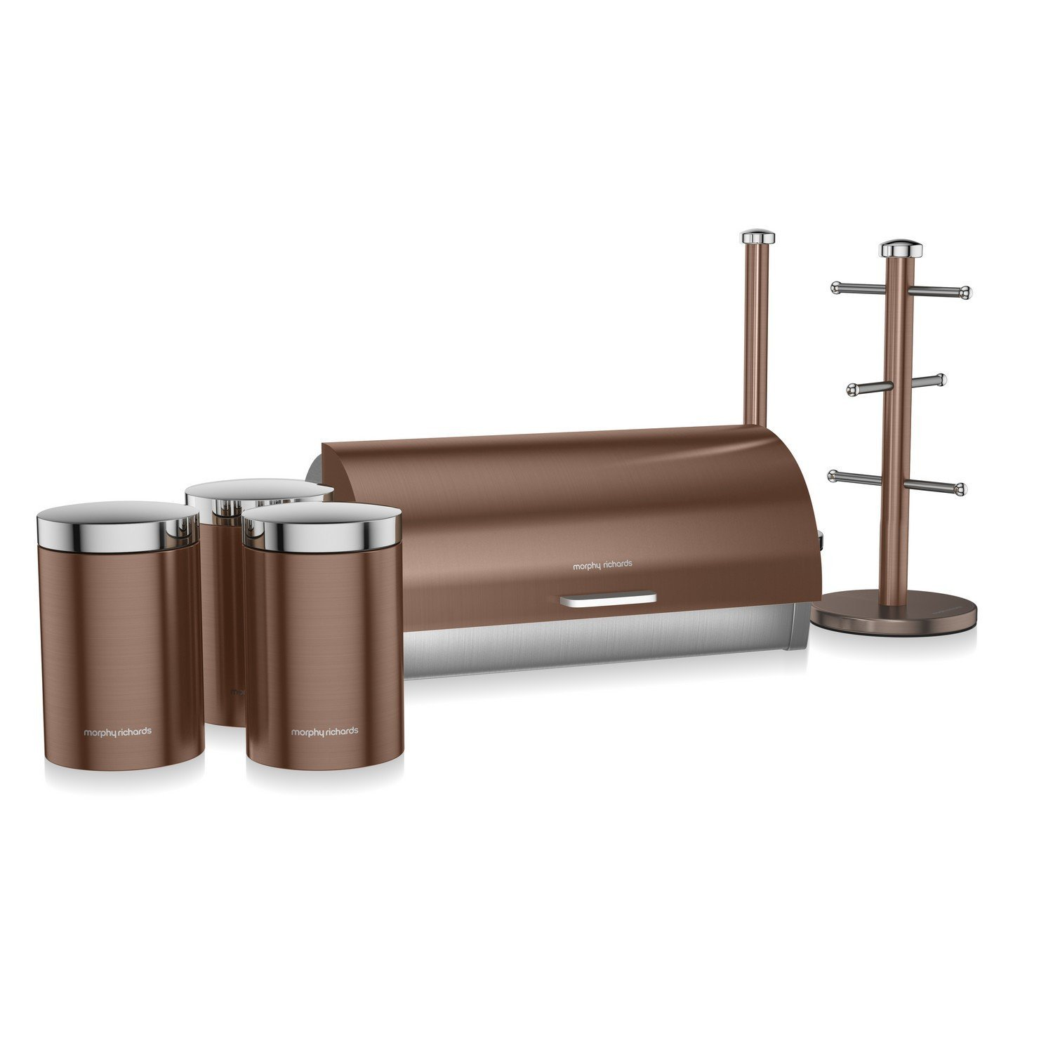 Morphy Richards Accents 6 Piece Storage Set Stainless Steel Copper